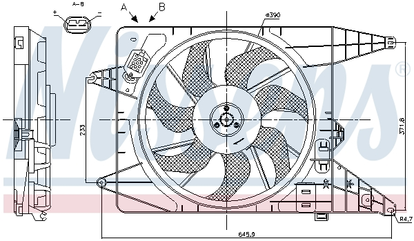 Ventilateur de radiateur NISSENS 85890 (X1)
