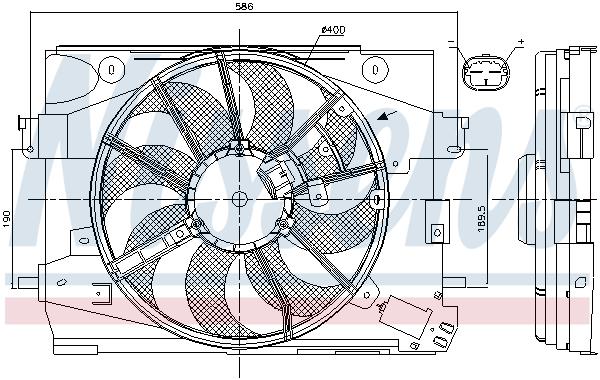 Ventilateur de radiateur NISSENS 85892 (X1)
