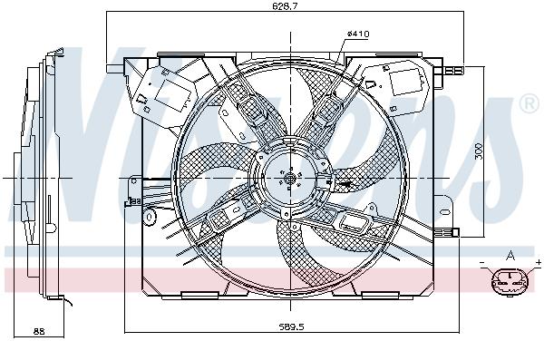Ventilateur de radiateur NISSENS 85926 (X1)