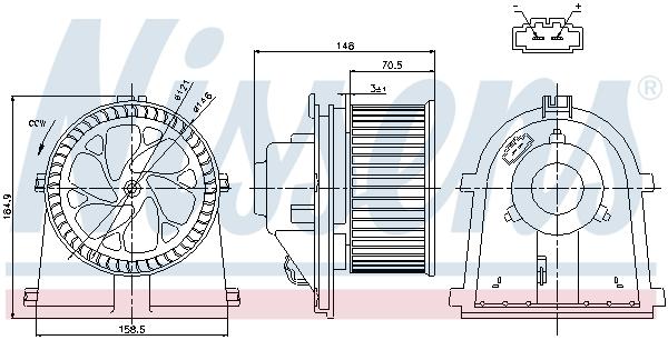 Chauffage et climatisation NISSENS 87022 (X1)