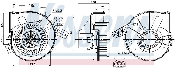 Chauffage et climatisation NISSENS 87028 (X1)