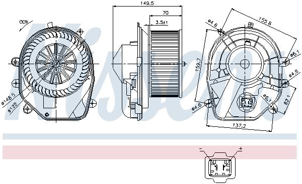 Chauffage et climatisation NISSENS 87030 (X1)