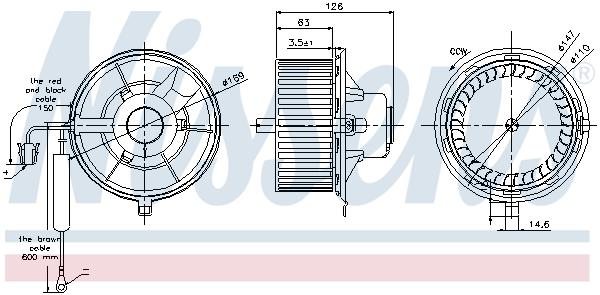 Chauffage et climatisation NISSENS 87031 (X1)