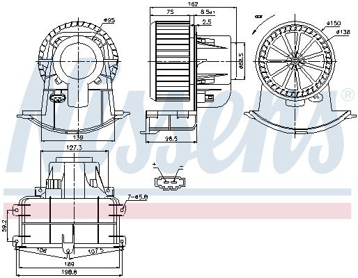 Chauffage et climatisation NISSENS 87033 (X1)