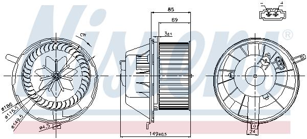 Chauffage et climatisation NISSENS 87034 (X1)
