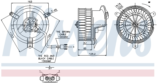 Chauffage et climatisation NISSENS 87035 (X1)