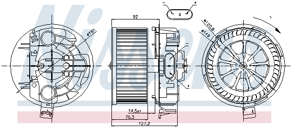 Chauffage et climatisation NISSENS 87043 (X1)