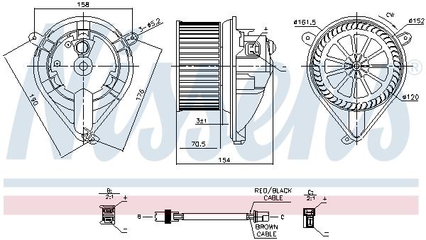 Chauffage et climatisation NISSENS 87052 (X1)