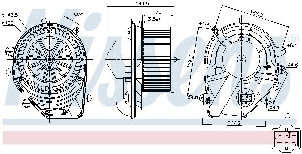 Chauffage et climatisation NISSENS 87060 (X1)