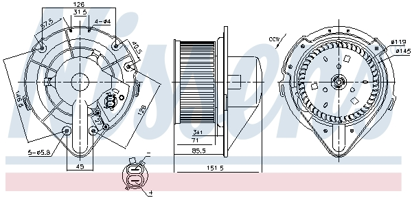 Chauffage et climatisation NISSENS 87066 (X1)