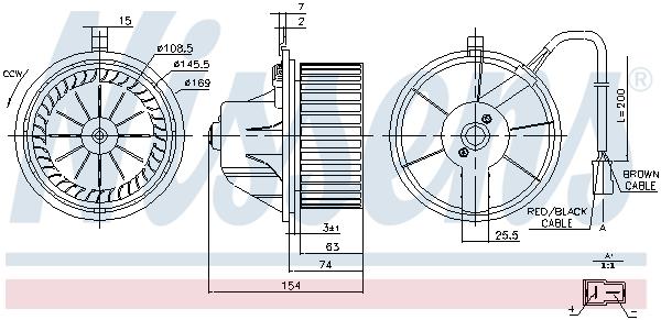 Chauffage et climatisation NISSENS 87068 (X1)