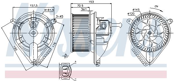 Freinage NISSENS 87095 (X1)