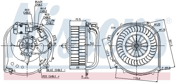 Chauffage et climatisation NISSENS 87100 (X1)