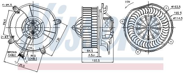 Chauffage et climatisation NISSENS 87103 (X1)