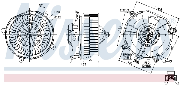 Chauffage et climatisation NISSENS 87104 (X1)