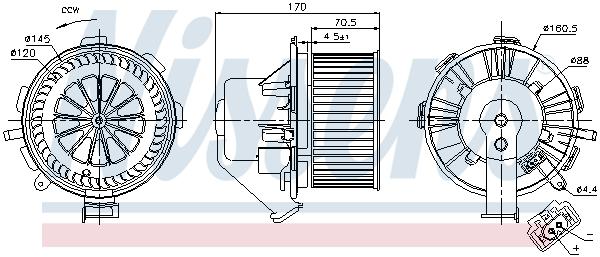 Chauffage et climatisation NISSENS 87106 (X1)