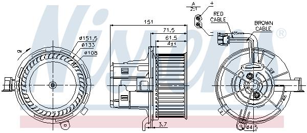 Chauffage et climatisation NISSENS 87109 (X1)