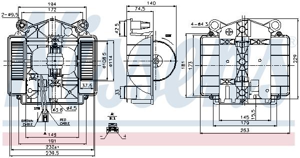 Chauffage et climatisation NISSENS 87110 (X1)
