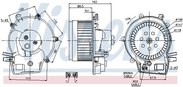 Chauffage et climatisation NISSENS 87111 (X1)