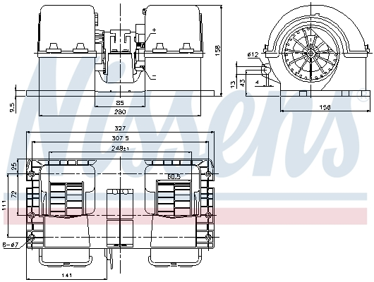 Chauffage et climatisation NISSENS 87132 (X1)