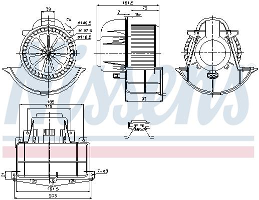 Chauffage et climatisation NISSENS 87139 (X1)