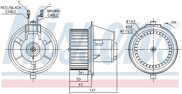 Chauffage et climatisation NISSENS 87148 (X1)