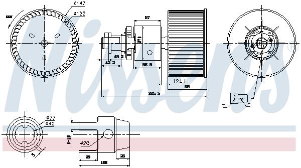 Chauffage et climatisation NISSENS 87149 (X1)