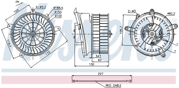 Chauffage et climatisation NISSENS 87152 (X1)