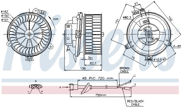 Chauffage et climatisation NISSENS 87153 (X1)