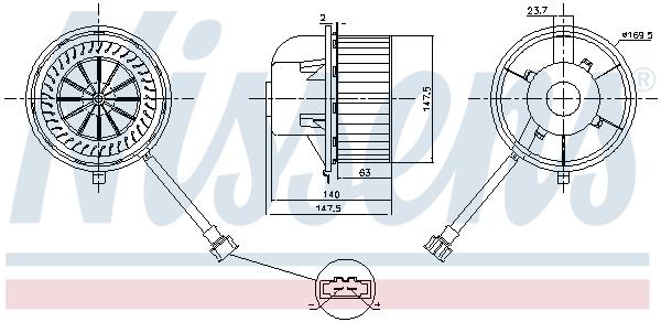 Chauffage et climatisation NISSENS 87155 (X1)