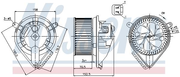 Chauffage et climatisation NISSENS 87156 (X1)