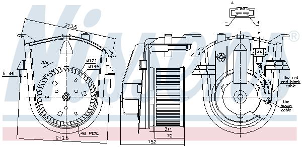 Chauffage et climatisation NISSENS 87176 (X1)
