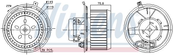 Chauffage et climatisation NISSENS 87185 (X1)
