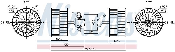 Chauffage et climatisation NISSENS 87193 (X1)