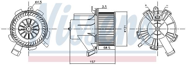 Chauffage et climatisation NISSENS 87208 (X1)