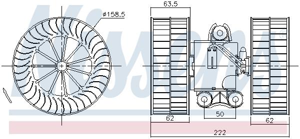 Chauffage et climatisation NISSENS 87212 (X1)