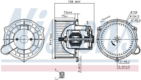 Chauffage et climatisation NISSENS 87234 (X1)