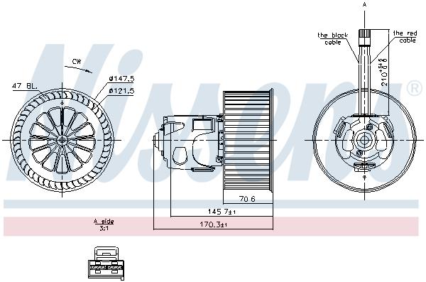 Chauffage et climatisation NISSENS 87242 (X1)