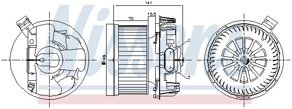 Chauffage et climatisation NISSENS 87267 (X1)