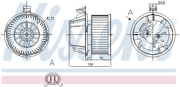 Chauffage et climatisation NISSENS 87269 (X1)