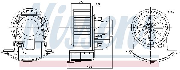 Chauffage et climatisation NISSENS 87271 (X1)