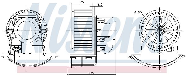Chauffage et climatisation NISSENS 87272 (X1)