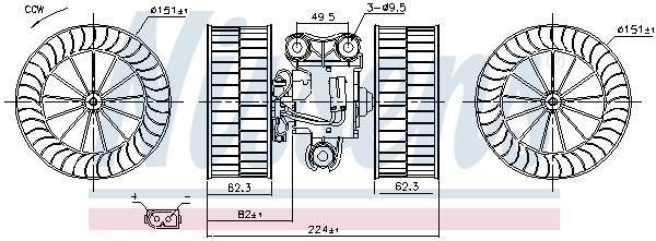 Chauffage et climatisation NISSENS 87340 (X1)