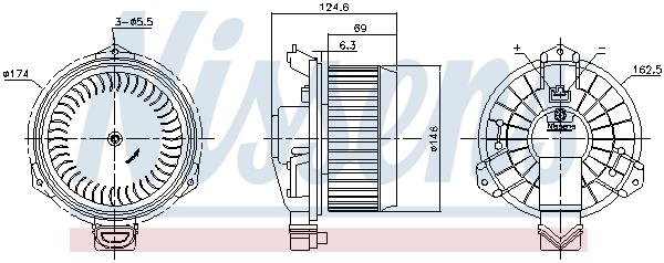 Chauffage et climatisation NISSENS 87365 (X1)