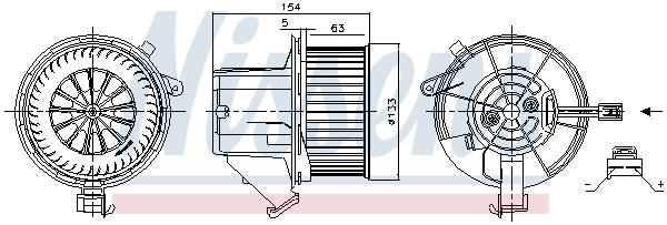 Chauffage et climatisation NISSENS 87391 (X1)
