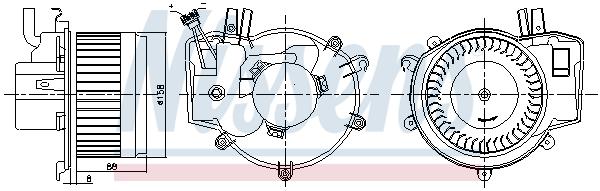 Chauffage et climatisation NISSENS 87395 (X1)