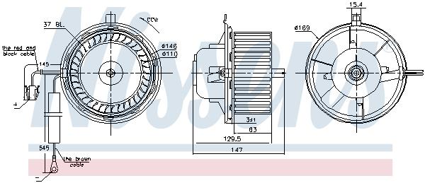Chauffage et climatisation NISSENS 87404 (X1)