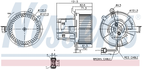 Chauffage et climatisation NISSENS 87406 (X1)