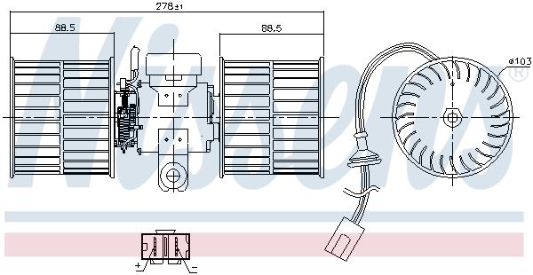 Chauffage et climatisation NISSENS 87411 (X1)