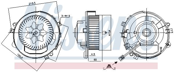 Chauffage et climatisation NISSENS 87424 (X1)